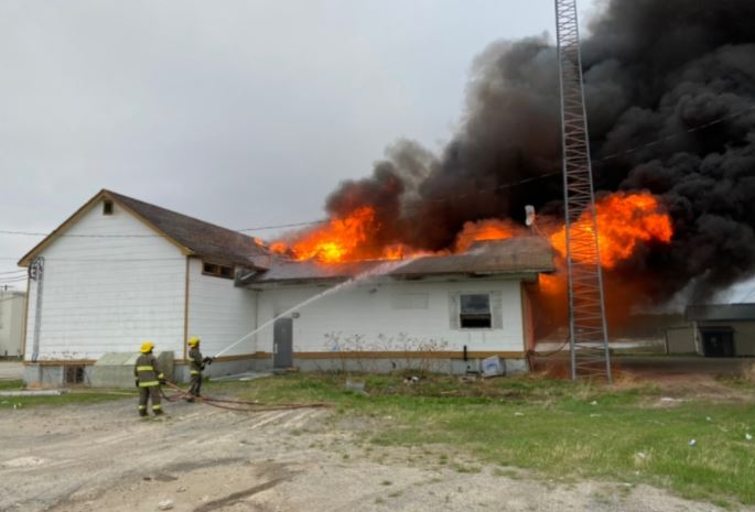 Arson suspected after former day school burns down on Manitoba First Nation